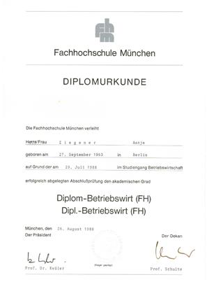 Diplom Betriebswirtin